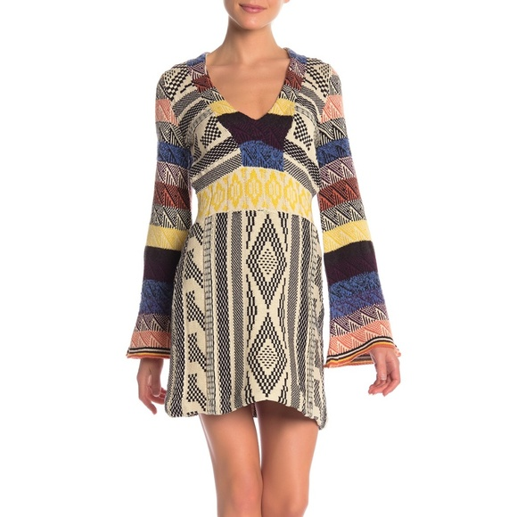 Free People Dresses & Skirts - Free People Patchwork Sweater Dress